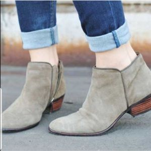 Sam Edelman Petty Suede Ankle Booties In Putty 9.5